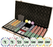 Premium Set of of 750 Casino Del Sol 11.5 gramme Poker Chips w/Case, Cards, Dealer Buttons, & 2 Cut Cards