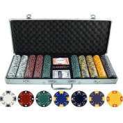 13.5g 500pc Ace King Tricolour Clay Poker Chip Set