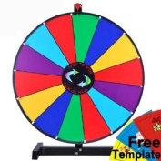 61cm Tabletop Colour Dry Erase Spinning Prize Wheel 14 Slot