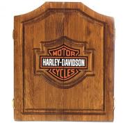 Harley Davidson Bar & Shield Solid Pine Dart Cabinet 61905