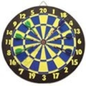 Wooden Dart Board with Darts