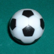 4 Black and White Engraved Soccer Foosballs