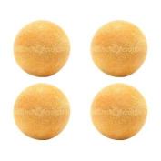 4 Yellow Textured Foosballs