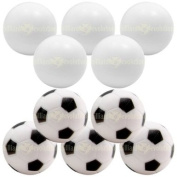 5 Smooth and 5 Soccer Foosballs