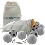 5 Smooth & 5 Soccer Foosballs with Bonus Yellow Foosball and Storage Bag