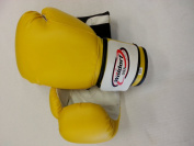 Boxing Bag Gloves in Vinyl 350ml YELLOW