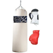2 Pairs of Boxing Gloves with One Punching Bag New !