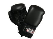 Boxing Gloves in Top Grade Leather Black 300ml