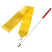 4m Dance Ribbon Wand Gym Rhythmic Art Gymnastic Ballet Streamer Twirling Rod Yellow