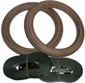 Wooden Gymnastic Rings - USA Wood Gymnastics Rings for Fitness and Crossfit Training