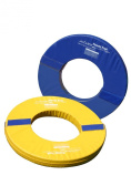 Tumbl Trak Orbiter Rings Foam Orbiter Ring Halves with Royal Blue and Yellow Vinyl Cover with hook and loop 91.4cm Length x 91.4cm Width