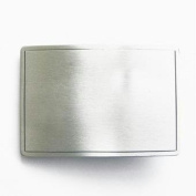 Engraveable Rectangle Pewter Buckle