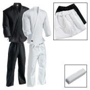 Karate Martial Arts Uniform Medium Weight White Cotton Elastic Waistband & Drawstring Size 3