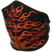 Neo-X Half Face Mask - Orange Flames W11S17B