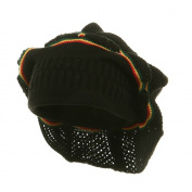 New Rasta Knitted without Brim Hat - Black RGY W27S24E