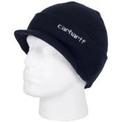 Carhartt - Mens Branded Winter Hat with Visor - Navy