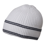 New Cable Cuff Beanie-White Navy W28S13C