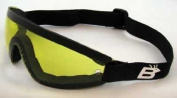 Birdz Eyewear the Wing - Yellow Lens Sky Dive Skydiving Goggles with Padding