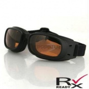 Piston Goggle, Black Frame, Amber Lens