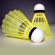 Yellow Nylon, PVC Base, International Tournament Badminton Shuttlecocks