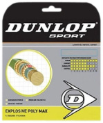 Dunlop Sports Synthetic Explosive Poly Max 16-Guage Tennis String, White/Jade Green