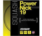 Ashaway Powernick Squash 19g Black String - Black