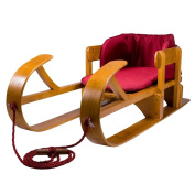 Lucky Bums Heirloom Collection Wooden Baby Boggan Sled with Pad