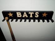 Wood Storage Bat Rack Mini Bats 6-11 Bats Black Sport