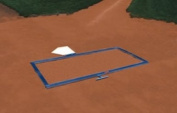 Batters Box Foldable Template