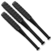Set of 3 Hardcore Black Baseball Bats for Wrestling Action figures
