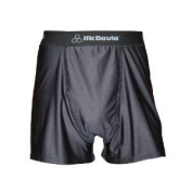 McDavid 9255P Performance Boxer Shorts With Cup Pocket Black Pee Wee Large