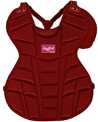 Rawlings Adult 17 Baseball Chest Protectors S - SCARLET ADULT 17