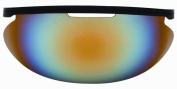Diamond Iridium Baseball Face Mask Sun Visor, Multi Colour