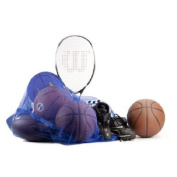 Set of 12 Blue Coaches' Equipment Bags in Heavy Duty Mesh by Crown Sporting Goods