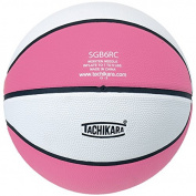 Tachikara SGB6RC.PKW Indoor-Outdoor Rubber 28.5 Intermediate Basketball - Pink-White