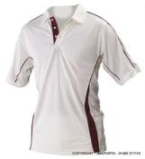 Players Cricket Shirt Small Maroon Trim