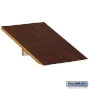 Salsbury Industries 22251MAH Sloping Hood for Extra Wide Designer Wood Locker - 1 Wide - Mahogany