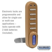 Salsbury Industries Electronic Lock - for Designer Wood Locker Door - Gold 33390GLD