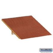 Sloping Hood - Open Access Designer Wood Locker - 45.7cm Deep - Cherry