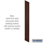 Salsbury Industries 22234MAH Side Panel for Extra Wide Designer Wood Locker with Sloping Hood - Mahogany
