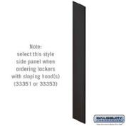 Side Panel - for Designer Wood Locker - with Sloping Hood - Black