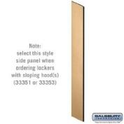 Side Panel - for Designer Wood Locker - with Sloping Hood - Maple