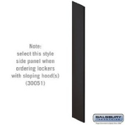 Side Panel - Open Access Designer Wood Locker - 45.7cm Deep - with Sloping Hood - Black