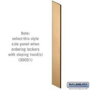 Side Panel - Open Access Designer Wood Locker - 45.7cm Deep - with Sloping Hood - Maple