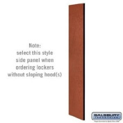 Side Panel - Open Access Designer Wood Locker - 61cm Deep - without Sloping Hood - Cherry