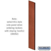 Side Panel - Open Access Designer Wood Locker - 61cm Deep - with Sloping Hood - Cherry