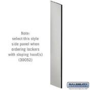 Side Panel - Open Access Designer Wood Locker - 61cm Deep - with Sloping Hood - Grey