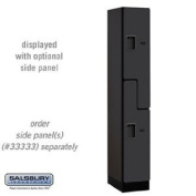 "Designer Wood Locker - Double Tier ""S"" Style - 1 Wide - 1.8m High - 45.7cm Deep - Black"