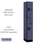 "Designer Wood Locker - Double Tier ""S"" Style - 1 Wide - 1.8m High - 45.7cm Deep - Blue"