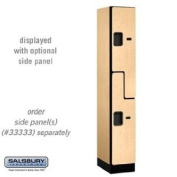 "Designer Wood Locker - Double Tier ""S"" Style - 1 Wide - 1.8m High - 45.7cm Deep - Maple"